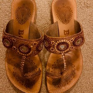 Bos & Co leather sandals